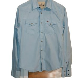 Hollister Light Blue Cotton Western style …